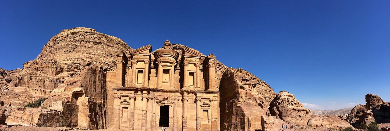Panorama of monastery,Petra,Jordan