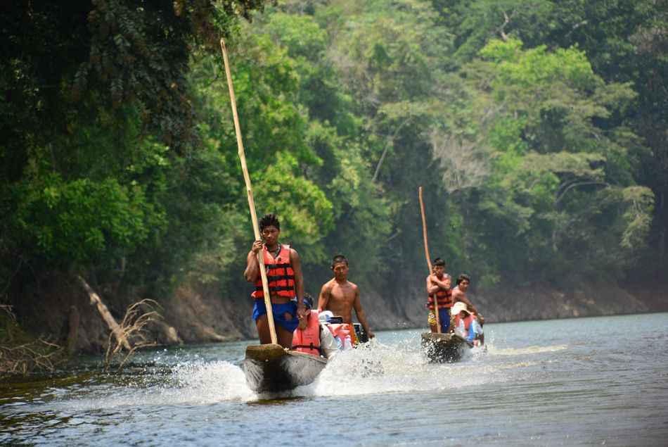 Visiting the Embera Indian community, Panama