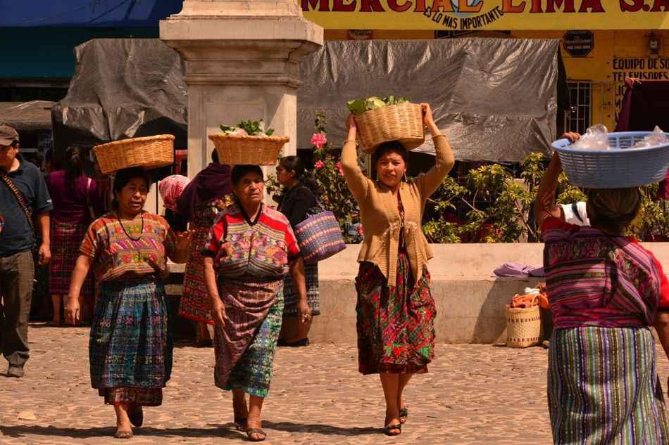 Women at market, Guatemala