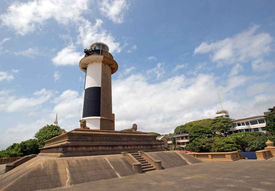 Old Lighthouse at the Galle Face in Colombo Sri Lanka Asia