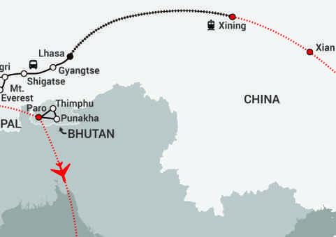 Himalayan Express-map updated Gyirong