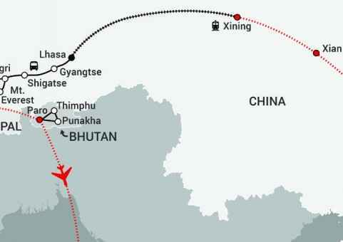 Himalayan Express-map updated Gyirong