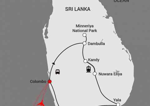 35573 Travel Driectors - New Maps - Sri Lankan Sojourn 70 mm x 7