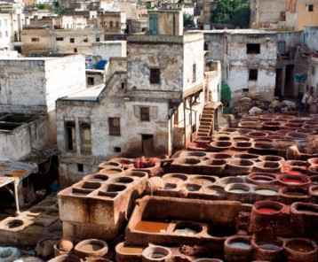 Fez Cityscape and Tannery