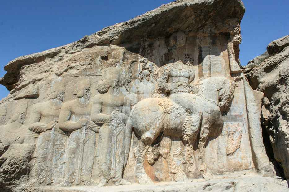 Rock carvings in Naqsh-e Rajab.