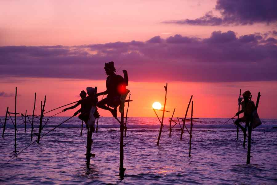 stilt fishermen, Galle