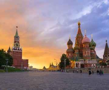 Red Square sunset