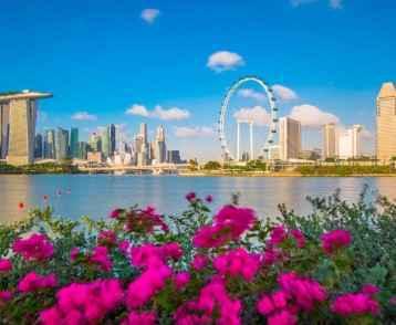 Singapore skyline day