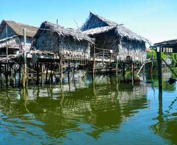 Stilt Houses Standing on Tonle Sap Lake, Cambodia
