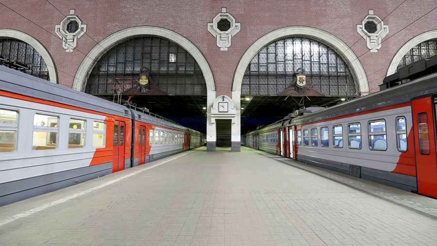Trains at Kazansky station