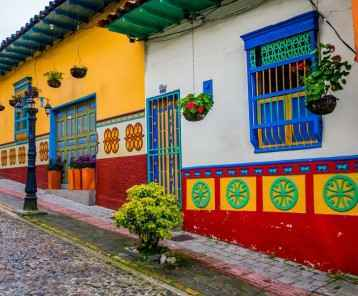 Beautiful and colorful streets in Guatape, known as town of