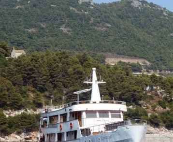 MS Emanuel-moored at Mljet