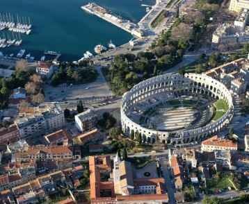The Roman amphitheatre, Pula