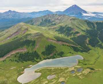 Beautiful landscape in South Kamchatka Nature Park.