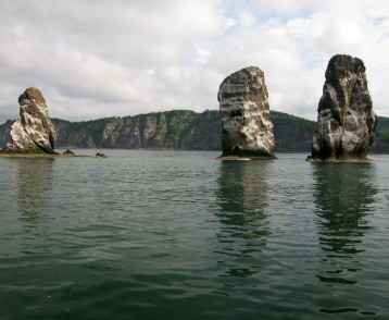 Three brother rocks, Avacha bay, Kamchatka