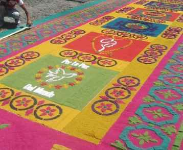 Semana santa alfombra