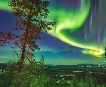 Nothern lights over Lapland