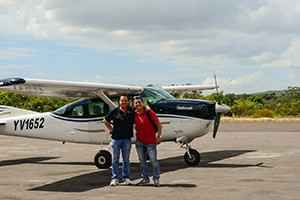 Tony and JC - Light plane-blog