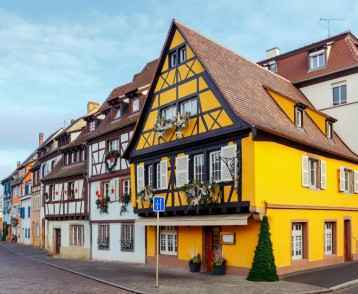 Colmar. The old half-timbered houses
