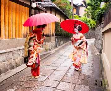 beautiful Maiko ladies in Kyoto.
