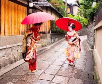 beautiful Maiko ladies in Kyoto.