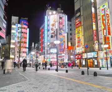 Shinjuku Kabukicho at night (Nakamise-dori)