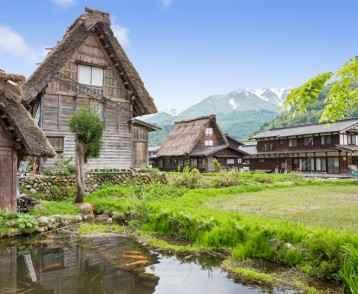 Historical Japanese Village - Shirakawago in spring