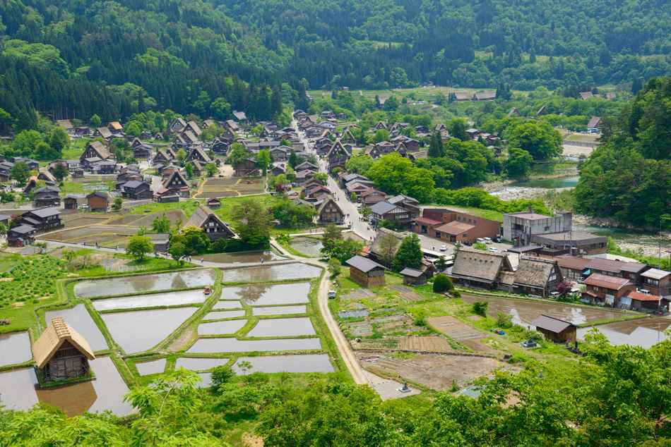 Historic Village of Shirakawa-go in spring