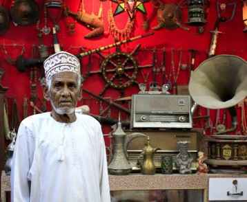 Antique dealer in Mutrah Souk