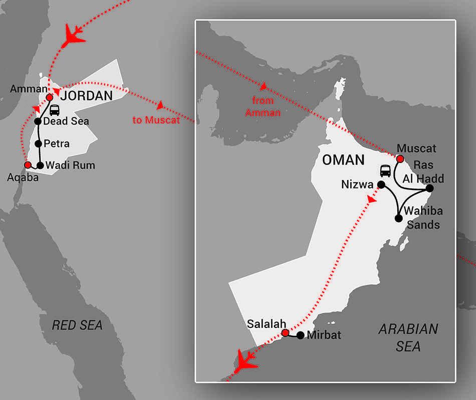 Jordan and Oman - web