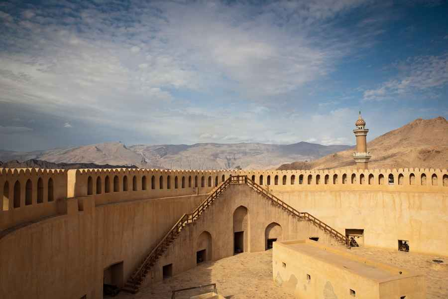 Gorgeous view of the Nizwa fort in Oman