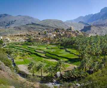 The village in sultanate Oman