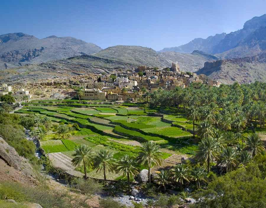 The village in sultanate Oman