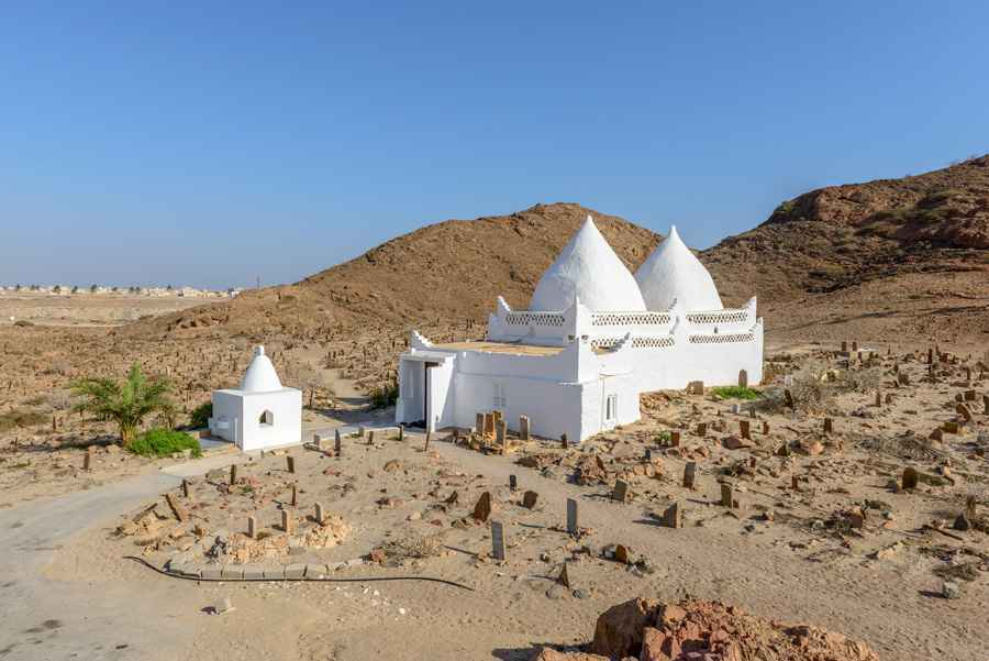 Tomb of Bin Ali in Mirbat, Dhofar region (Oman)