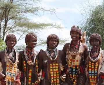 Hamar Frauen aus dem Omo Valley in thiopien