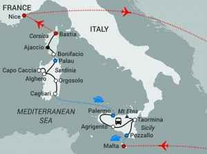 Jewels of the Med-updated flight ot Nice