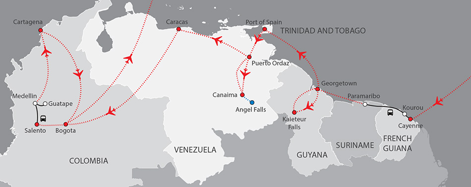 South America Top End - updated 2019
