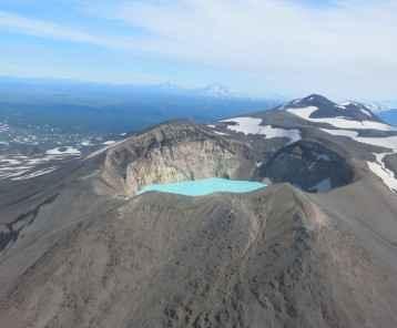 Flying over the volcanoes