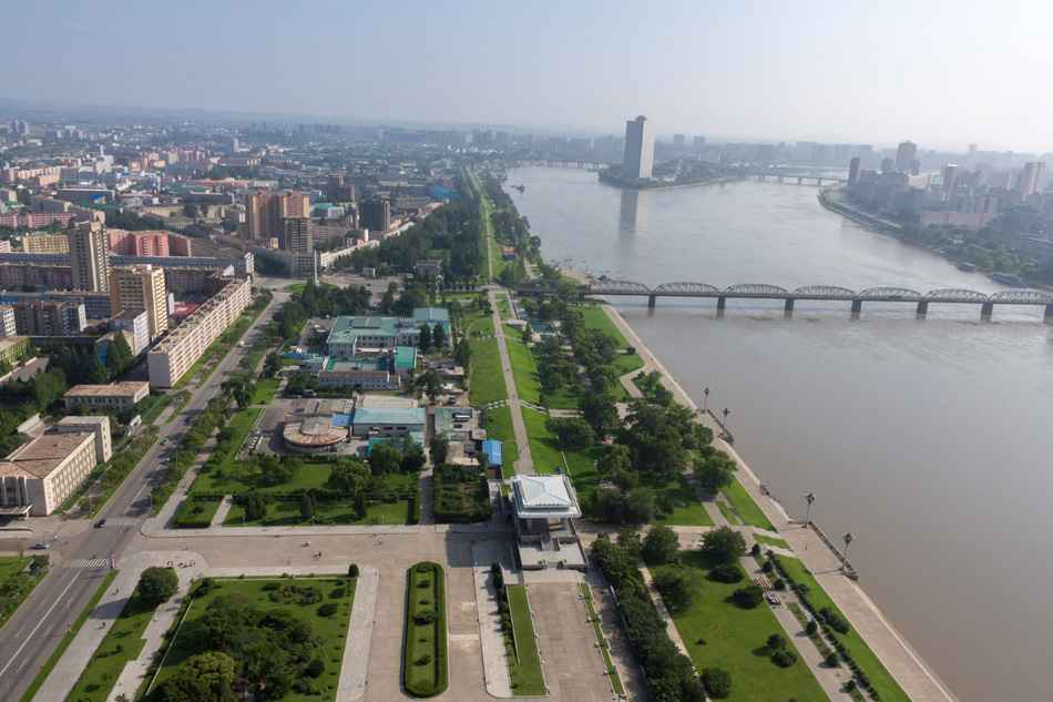View of the city Pyongyang.
