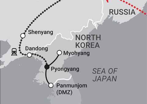 China & Korea Map