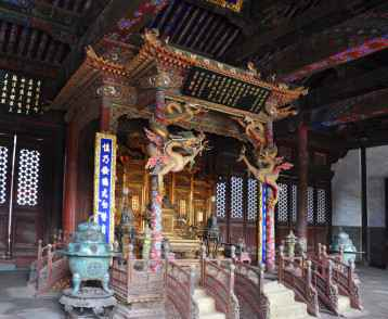 Shenyang Imperial Palace (Mukden Palace) Throne of Chongzheng Ha