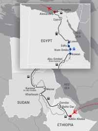 Ethiopia-Sudan-Egypt Map