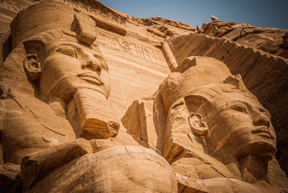 Huge statues at Abu Simbel