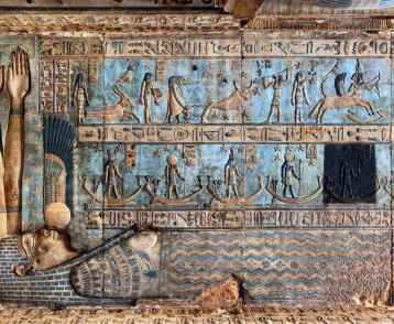 Interior of Dendera Temple, Egypt