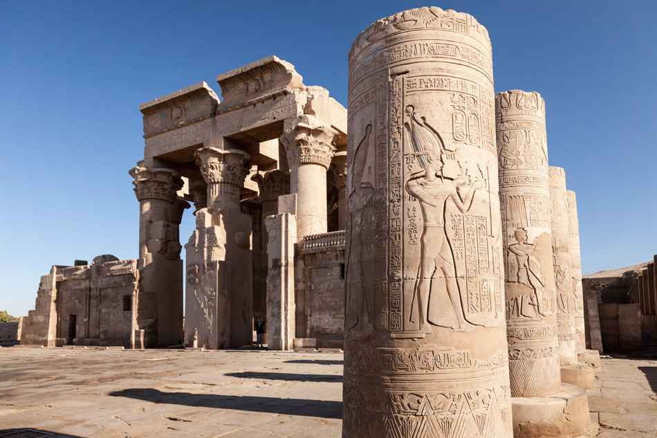 Kom Ombo courtyard, Egypt