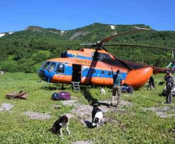 Helicopter Kamchatka