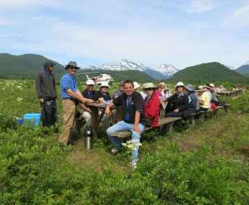 Picnic stop in Kamchatka
