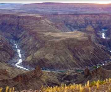 scenic view to Fish River Canyon in Namibia