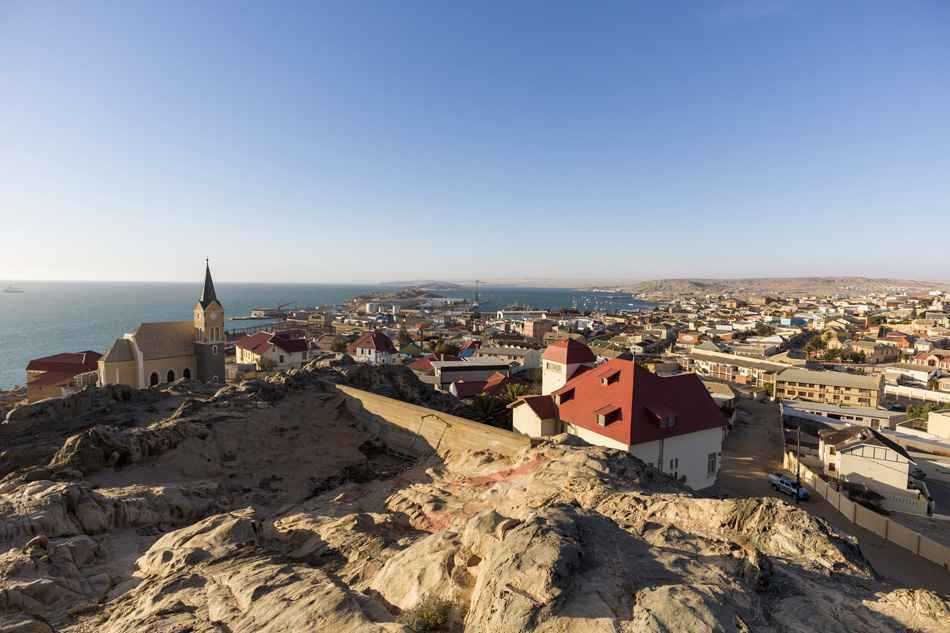 Panoramic view of Luderitz town