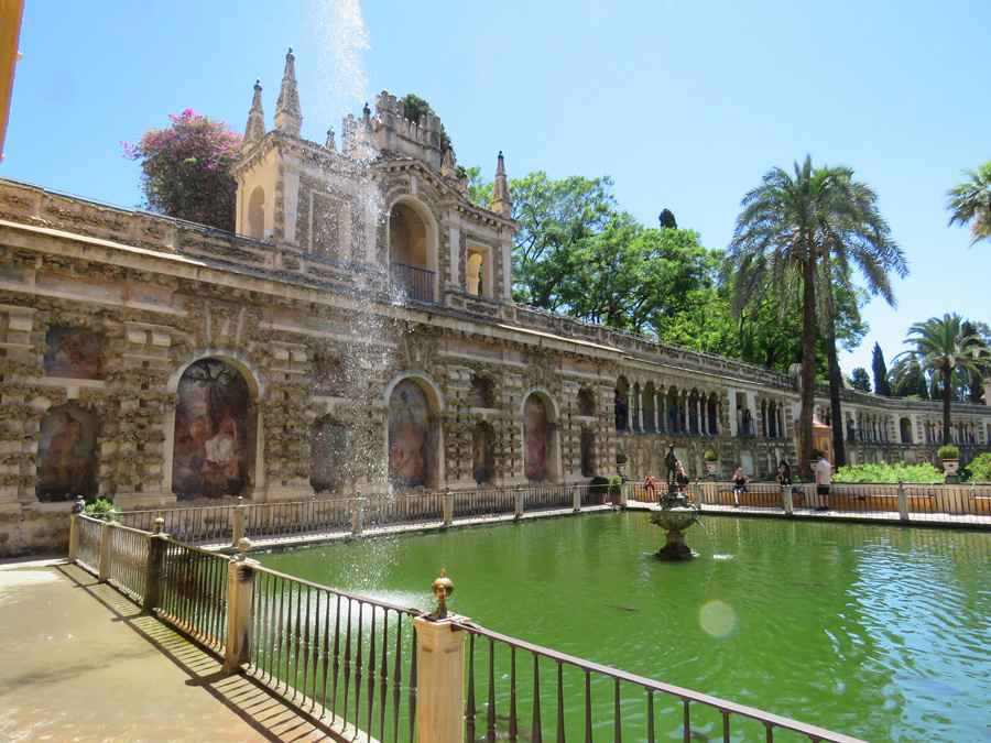 Gardens and pavilion Royal Alcazar, Seville
